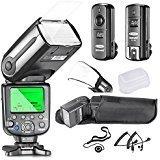 Neewer NW565EX i-TTL Slave Kamera Blitz Set für NIKON DSLR Kamera wie D7100 D7000 D5300 D5200,...