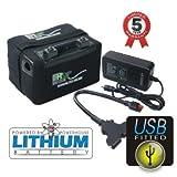 Powerhouse Golf 12V 36Loch + Golf Trolley LiFePO4Lithium Akku INC USB-Stecker