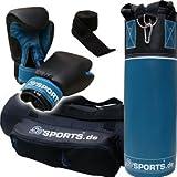 ScSPORTS Box-Set 2. Wahl, für Kinder und Jugendliche, mit Boxhandschuhen, Boxbandagen und Tasche,...