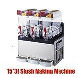 gr-tech Instrument® kommerziellen 3Tank Frozen Drink Slush Slushy, die sich Maschine Smoothie Maker 110V/220V