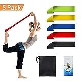 Fitnessbänder Set 5, Supband Gymnastikbänder Loops für Yoga, Pilates, Reha-Sport Physio-Gymnastik...