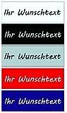 Namensschild / Briefkastenschild / Türschild in Kunststoff, --AUSWAHL in Farbe, Größe und Schrift-- selbstklebend, mit Bohrungen oder zum Einschieben in dünnerer Stärke, Maximale Größe 65x30mm