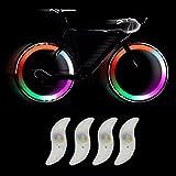 TRIXES 4 X LED Fahrradspeichen-Lichter die die Farbe wechseln