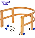 Schlittenlehne aus stabilen Holz - universal passend - für fast alle Schlitten - mit Schrauben /...
