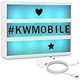 kwmobile Farbwechsel LED Lichtbox A4-7 Farben 126 schwarze Buchstaben USB Netzteil - Cinema Lightbox...
