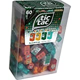 TIC TAC Spender Box with 60 Mini Boxes (Each 3.9 Grams) Liliput, Flavours : Orange, Mint, Peach,...