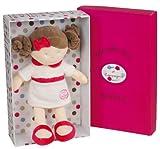 Doudou et Compagnie DC2308 Les Demoiselles de Doudou Puppe und Mini-Puppe Mademoiselle, Weiß / Rosa