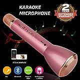 Bluetooth Mikrofon, Drahtlos Karaoke Mikrofon Batterie Mikrofon Kabellos Anlage mit Lautsprecher...