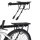 WeyTy Fahrrad Gepäckträger, MTB Aluminium Hinten Gepäckträger Mountainbike Hinten Sattelstütz...