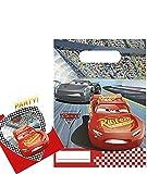 Party Pack CARS 3 - 6 Einladungskarten und 6 Partytüten für Kindergeburtstag