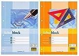 10 Schulblöcke /Schreibblöcke Mix je 5x liniert   kariert DIN A4 / 50 Blatt je Block (10er Packung, Schulblock   Mix)