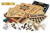 Philos 3101 - Holz-Spielesammlung, Premium Edition, mit 100 Spielmöglichkeiten
