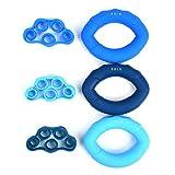 ATPWONZ Handtrainer Ring Silikon, Hand Grip Trainer Strengthener, 3er-Fingertrainer Set,...