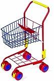 Einkaufswagen aus Metall für ein tolles Einkaufsgefühl, stabiler Metallrahmen inklusive integriertem Puppensitz, mit 360 Grad drehbaren Rädern, Shoppingspaß für Kinder ab 3 Jahre