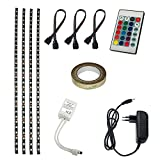 ALED LIGHT 4*50cm LED Streifen RGB Farbwechsel/TV Hintergrund Beleuchtung LED Lichtleiste Kit 2M...