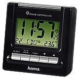 Hama Reise Funk Wecker RC200 (Thermometer, Hintergrundbeleuchtung, zwei Weckzeiten, automatische...