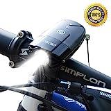 LED Fahrradbeleuchtung  USB Wiederaufladbar Fahrradlicht Fahrrad Frontlicht Wasserdicht tragbar entfernbar Multi-Modi Outdoor