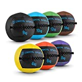 Capital Sports Epitomer Wall Ball Set Medizinball Leder Gewichtsball Gymnastikball 4 kg 6 kg 8 kg 9...