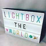 The Cozy Lightbox A4 Lichtbox Cinematic inkl. schwarzer & bunter Buchstaben plus EMOJIS