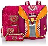 Scout Schulranzen-Set Basic Nano Set 4 tlg Pink Heart 36 cm Pink 71400778700