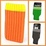Incutex Handysocke Textilsocke Handy Sleeve orange Handytasche aus Textil für iPhone 3 4 5 iPod...