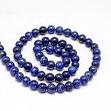 Blau/Gold Lapis luzuli rund Perlen. Halbedelsteine Edelsteine. 6mm, 8mm oder 10mm., blau, 8 mm