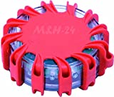 M&H-24 Warnblinkleuchte-LED, Warnleuchte Auto mit Magnet &16 LED, fürs Auto Notfall