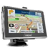 Hieha 5' Zoll 8GB Navi Navigation Navigationsgerät GPS Navigationssystem LKW PKW GPS Europe Traffic...