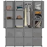 LANGRIA Regalsystem Kleiderschrank 20 Kubus Garderobenschrank für Aufbewahrung Kleidung, Schuhe,...