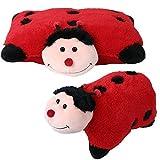 2 in 1 Tierkissen Tiermotive Plüschkissen Kissen Kuscheltier liegend stehend Marienkäfer