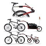 Bike-Parts Tandem-Stange Peruzzo Trail Angel 12'-20', gelb (1 Stück)
