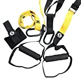 SHKAX Sling Trainer 5 in 1 Fitness Sling Türanker und Loops für Indoor- Oder Outdoor-Training...