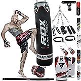RDX Boxsack Set Gefüllt Kickboxen MMA Muay Thai Boxen mit Deckenhalterung Stahlkette Training...