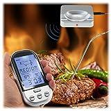 MAIKEHIGH Wireless Remote Digital-Barbecue Thermometer, Monitor Fleisch Temperaturen für BBQ...
