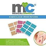 Medicalcorner24 Kinesiologie Gittertape 102 Stück, Cross-Patches, Cross Tape in versch. Größen...
