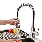 Homelody Küchenarmatur Ausziehbar Wasserhahn Küche mit Brause Mischbatterie Spültischarmatur...
