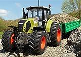 RC Traktor CLAAS Axion 850 + Anhänger in XL Länge 72cm 'Ferngesteuert'