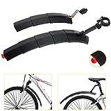 WeyTy Fahrrad Spritzschutzset, einziehbares Mountainbike Schutzblech aus umweltfreundlichem...
