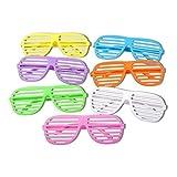 S/O 12er Pack Partybrille Bunt 6 Farben erhältlich Partybrillen Bunt Gitterbrille Spaß Spass...