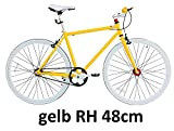 Micargi 28' Singlespeed Fitnessrad Fahrrad Fixed Gear Rennrad Rahmenhöhe 48 oder 53cm