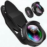 Elekele® Handy Objektiv lens, Handy Kamera Objektiv Clip-on mit 0.6X Weitwinkelobjektiv & 10X...