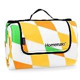 Homemaxs Extra Große Picknickdecke 200x200 cm Wasserdicht und Tragbar Faltbare Outdoor-Decke für...