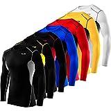 Langärmliges Total Compression Advanced HyperFusion Basisschicht-Unterhemd Funktionsunterwäsche Armour Kompressionsshirt für Männer und Jungen