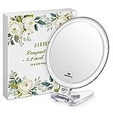 Lavany Makeup Taschenspiegel Handspiegel Kosmetikspiegel 4,2 inch Doppelseitiger Schminkspiegel...