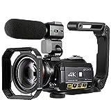 4K Camcorder, ORDRO 4K Ultra HD Camcorder Videokamera 1080P 60FPS WiFi Kamera mit IR Nachtsicht,...