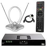 Xoro HRT 8720 / 8724 Full HD HEVC DVB-T/T2 Receiver + 44 dB Skymaster Antenne (H.265, HDTV, HDMI,...
