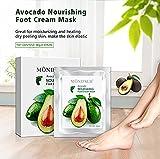Holisouse schältende Fußmaske, Entfernen Tote Haut Fuß Peeling Maske, und Sie bekommen eine bequeme Berührung des Fußes wie bei der Babyhaut, mit Avocado nährende Fußmaske (2 Paare)