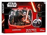 Air-Val Star Wars / Geschenk-Set: Brotdose (Lunch-Box) + Eau de Toilette (Parfum) 30ml - für Kinder