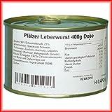 Hausmacher Dosenwurst 4 Dosen je 400g Pfälzer Leberwurst Premium Qualität