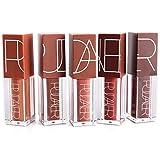 Pudaier 4 Farbe Lipgloss Lippenfaerbestift Lipmarker Lipliner mit Bleistiftspitzer